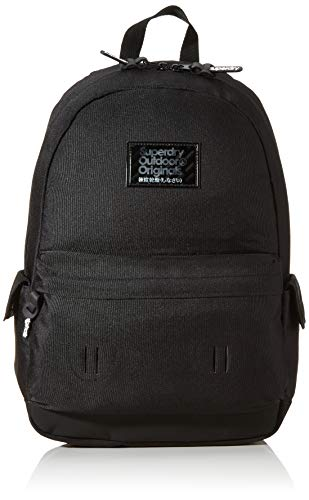 Superdry Hologram Montana Men's Backpack, Black, 13.5x46x30.5 Centimeters (B x H x T)