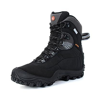 Manfen Women's Hiking Boots Lightweight Waterproof Hunting Boots Black Size 8