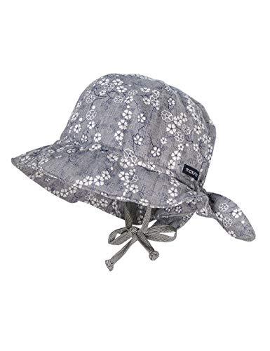 maximo Baby-Mädchen Hut Sonnenhut, Grau (Grau-Weiß-Blumen 31), (Herstellergröße: 45)