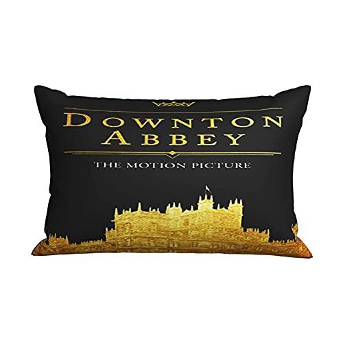 Down-ton Abb-ey - Funda de almohada de tamaño estándar con cremallera oculta para el hogar, cama, habitación, funda de almohada decorativa de 50 x 70 cm