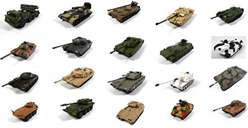OPO 10 - Lotto di 20 Veicoli Militari 1/72 - Vulcan Tiger AMX Bradley Challenger 2 - Carri Armati WW2 (LEM04 + 06)