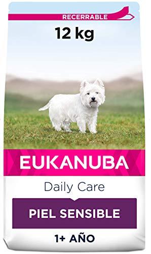Eukanuba Daily Care Alimento seco para perros adultos con piel sensible 12 kg 🔥