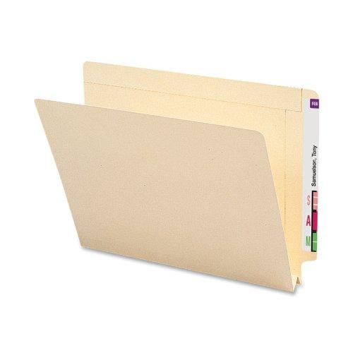 "Smead End Tab Heavyweight File Folder, Reinforced Straight-Cut Tab, 1-1/2"" Expansion, Letter Size, Manila, 50 per Box (24275)"
