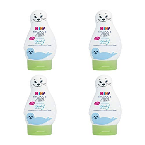 Hipp Babysanft champú y ducha, 4-pack (4 x 200 ml)