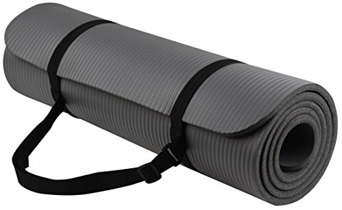 BalanceFrom BFGY-AP6GY Go Yoga All Purpose Anti-Tear Exercise Yoga Mat with Carrying Strap