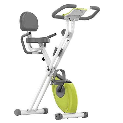 Opvouwbaar ontwerp Hometrainer, Magnetic Upright Fiets, met Flat staan en verstelbare stoel, Huis Quiet Pedal-Type Bicycle Fitness Equipment (Maximale belasting 150kg)
