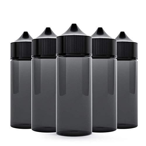 120ml Chubby Gorilla V3 Flasche PET schwarz transparent, 5 Stück