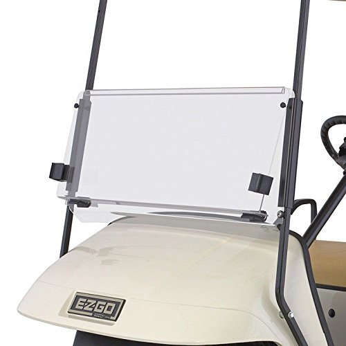 Fat Cat Golf - Fits EZGO TXT 1995-2013 Clear Fold Down Impact Resistant Windshield for EZGO TXT Golf Carts - Windshield Will Arrive with Protective Film on All Sides.