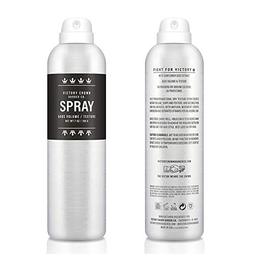 Price comparison product image Victory Crown Barber Co SPRAY / Adds Volume & Texture / No Parabens or Sodium Chloride / Contains Sunflower Seed Extract / 7 ounces