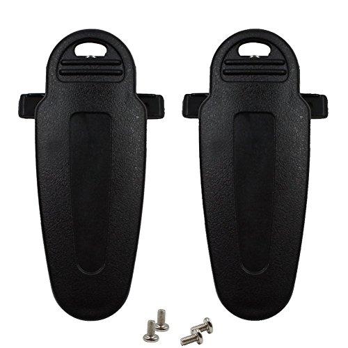 KENMAX Battery Belt Clip with Screws for Kenwood TK-2160 TK-2360 TK-336 TK-3178 TK-3160M (2 Packs)