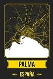 PALMA DE MALLORCA España Cuaderno: Squareious de la Ciudad de PALMA DE MALLORCA, Hoja Forrada, Diario 200 PÁGINAS, 6x9