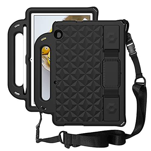 ZHIWEI Tablet PC Bolsas Bandolera Tablet Funda para Huawei MediaPad T5 10', Cuerpo a Prueba de Golpes Ligero para niños EVA Tapa Protectora del Soporte de la manija y la Correa para el Hombro