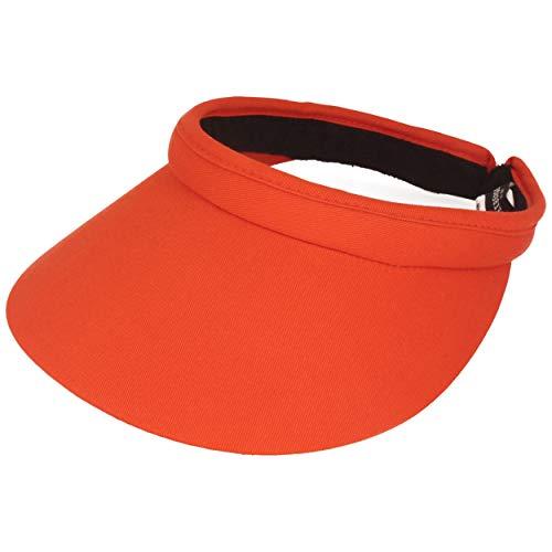 Seeberger Azalee Visor Baumwolle Baumwollvisor Sonnenvisor Sonnenschutz Blendschutz Strandvisor Damenvisor (One Size - orange)