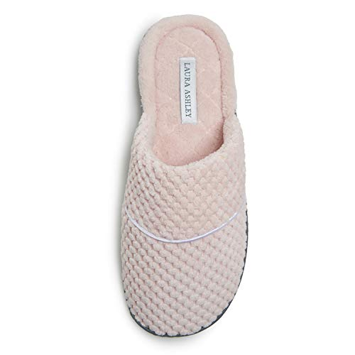 Laura Ashley Ladies Spa Rugged Slippers With Memory Foam Insole