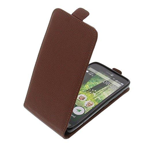 foto-kontor Tasche für Doro Liberto 825 Smartphone Flipstyle Schutz Hülle braun