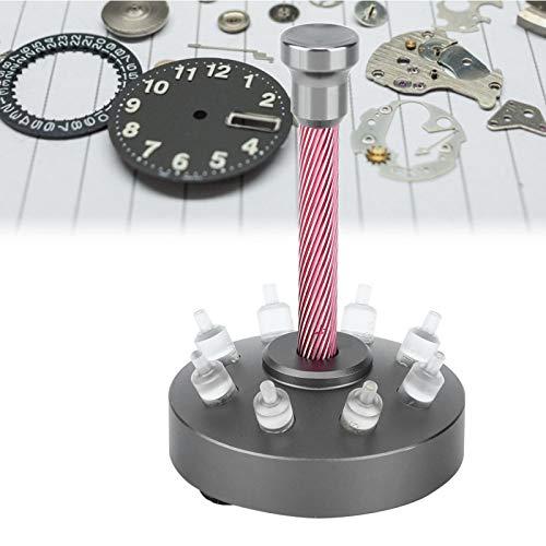 Okuyonic Precisa Herramienta de Ajuste Manual de Reloj con prensatelas Manual de 8 Orificios con Material acrílico para la fabricación de Relojes