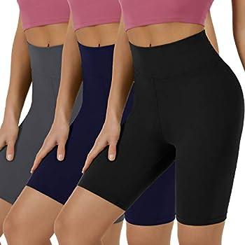 VALANDY Womens High Waist Spandex Biker Shorts for Yoga Workout Running Casual Fashion Bermuda Shorts