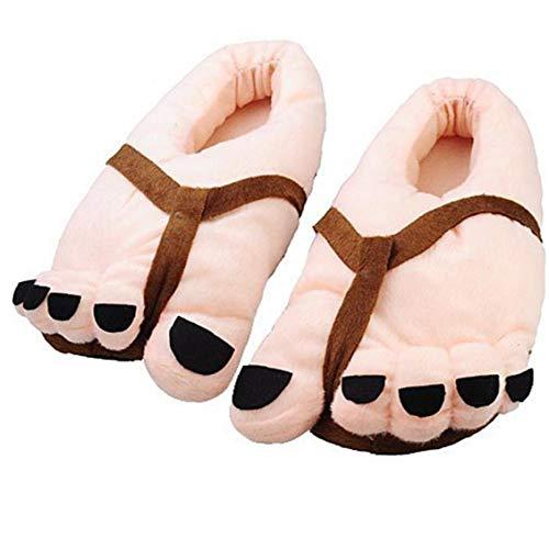 Hiinice Los Dedos del pie Grande y Suave del Deslizador Divertido Felpa del Invierno Los pies Grandes del Deslizador Antideslizante Zapatos Calientes de la Piel Rosada a Rich y Vida Conveniente