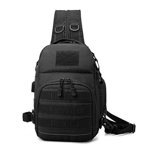 Miltitary Tactical Shoulder Bag Outdoor Army Airsoft Molle Backpack Fishing Hunting Camping Hiking Nylon Chest Sling Bag Packs Black