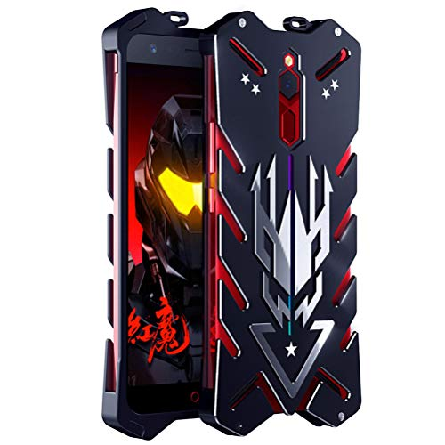 BINGRAN ZTE Nubia Red Magic Hülle, [Vulcan Series] [Hohle Design] Luftfahrt Aluminium Metall Robuste Armor Metal Hülle Hart Robuste Starke Schutzhülle für ZTE Nubia Red Magic 6.0