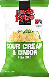 Uncle Ray's Sour Cream and Onion Potato Chips - 3 oz. Bag - 12 Pack