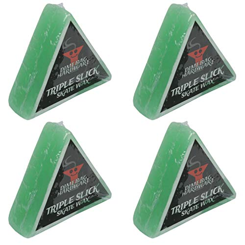 Dime Bag Hardware Triple Slick Skateboard Curb Wax Apple - Green 4 Pack