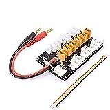 Supporta 6 batterie XT30 / 1S / 2S o 3S LiPo per bilanciare le batterie. Addensare la lamina di rame PCB, garantire la sicurezza utilizzando una corrente di carica di 20A. Linea di uscita con porta bilanciata con linea in silicone multi-filo 18AWG. D...