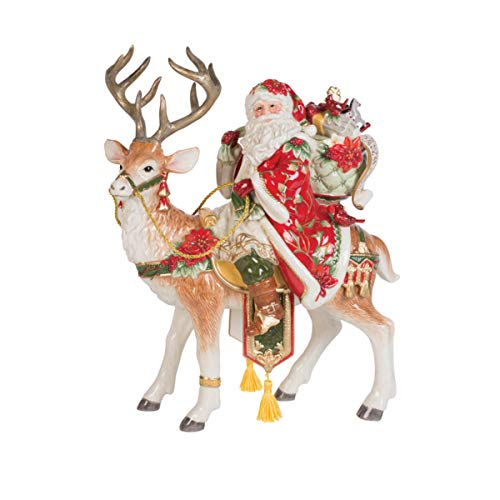 Fitz and Floyd Cardinal Christmas Collectible Figurine, 16-Inch, Multicolored