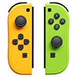 Nivimo Joypad Controller Compatible with Switch with Wrist Straps, Switch Joy Pad Controller Replacement Support Wake-up Function (Yellow and Green)
