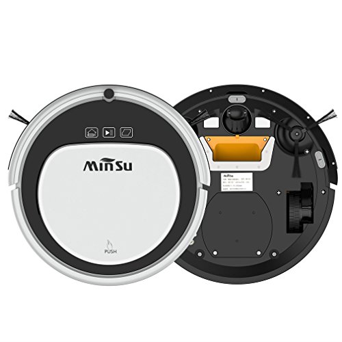 Automatic Robot Vacuum Cleaner, Strong Suction Remote Control Self-Charging Quiet Cleaner (MSTC09 Black & White)