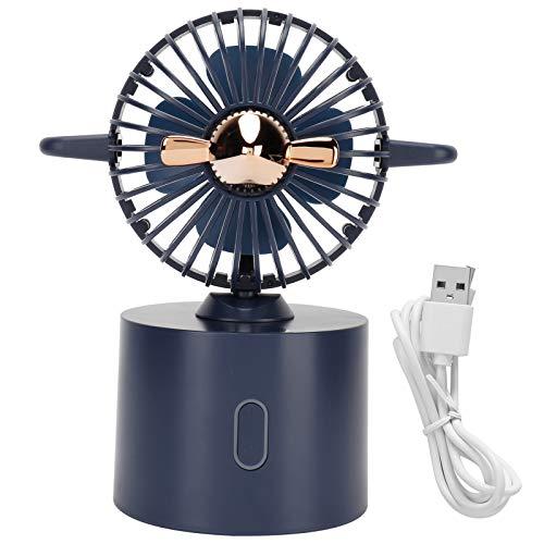BOLORAMO Ventilador portátil, Ventilador pequeño Ventilador de Viaje con avión oscilante para Viajar o para la Oficina en casa de Verano(Blue, Pisa Leaning Tower Type)