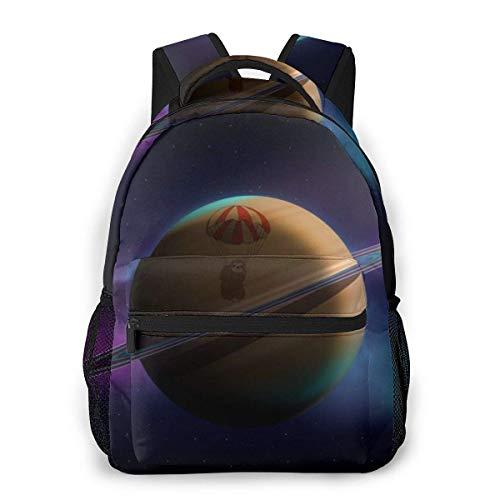 Lawenp Moda Unisex Mochila 3D Saturn Bookbag Ligero para computadora portátil para Viajes Escolares Acampar al Aire Libre