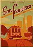 H/L San Francisco Hawaiianische Landschaft Retro Poster