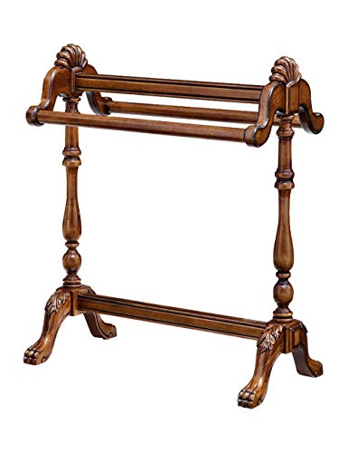 Percha de piso de percha vertical de dormitorio de percha de madera maciza Toalleros de barra