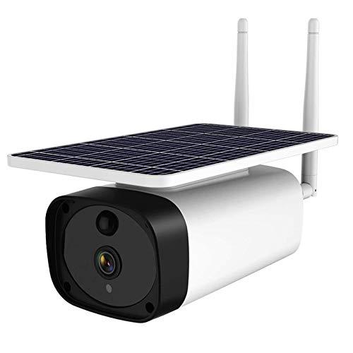 Jings Cámara de Seguridad WiFi para Exteriores, 1080P HD 4X Zoom Visión Nocturna Cámara IP de Audio bidireccional, Detección de Movimiento Impermeable Cámara inalámbrica con energía Solar