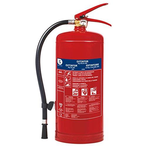 Smartwares Extintor de Polvo Seco, 6 KG, Resistencia al Fuego ABC