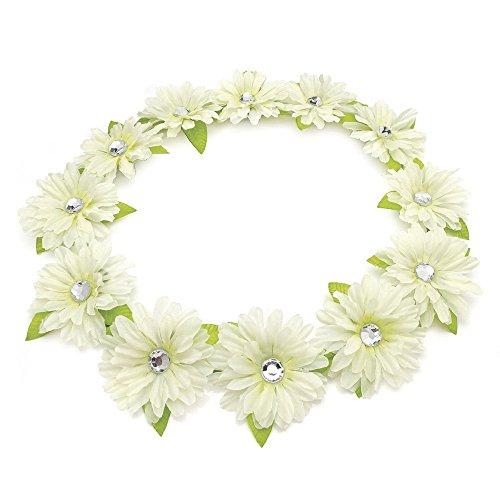 HA28565 Cream tone flower crown Headband Bridesmaid Bridal Festival Wedding by Amberjewellery