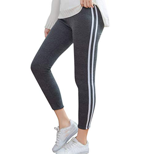 Damen Jogginghose Sporthose Lang Yoga Hosen Freizeithose Laufhosen Baumwolle High Waist Trainingshose Frauen Stripe Printing Cashmere Elastic Stretch Fitness und Running Yoga Pants