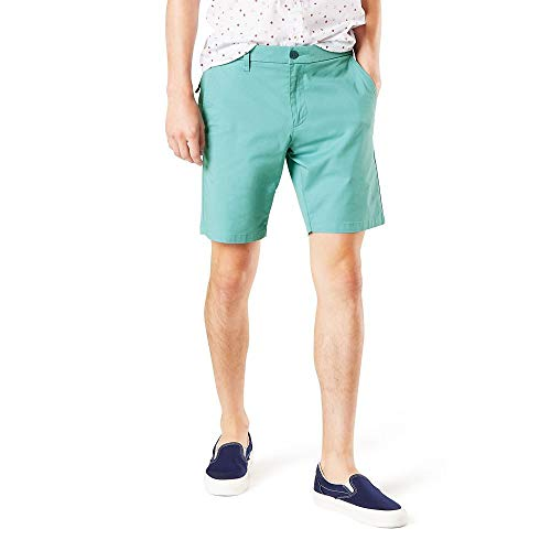 Dockers Men's Straight Fit Supreme Flex Ultimate Short, Dusty Turquoise, 34W