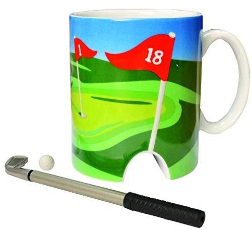 Golftasse und Mini-Putter