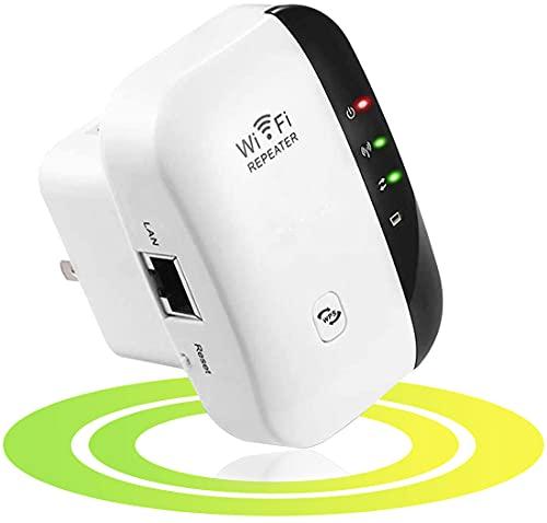 Maofuxing WiFi Répéteur WiFi Booster 300Mbps Extenseur sans Fil Amplificateur de Signal du Réseau Avoir AP/Répéteur et WPS Fonction, Installation Facile, 2.4GHz, Augmentation de la Couverture WiFi