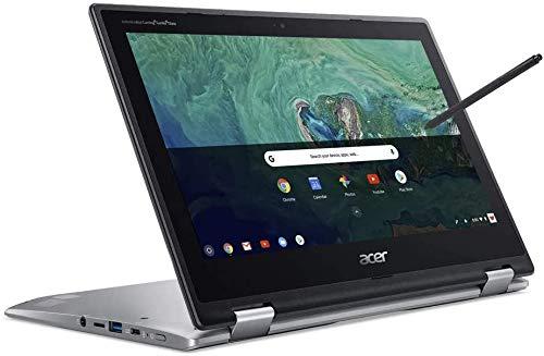 Acer Spin Chromebook 11.6 Inch Touchscreen 2-in-1 Laptop, Intel Celeron N3350 up to 2.4 GHz, 4GB RAM, 32GB eMMC, WiFi, Chrome OS + NexiGo 128GB MicroSD Card Bundle (Renewed)