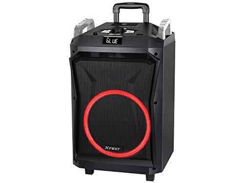 Trevi XF 1850 KB - Altavoz Amplificado Moving Discolight, MP3, USB, AUX-IN, función TWS, Bluetooth, batería integrada, Karaoke Party Speaker con micrófono inalámbrico inalámbrico inalámbrico Incluido