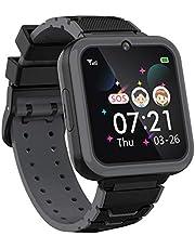 """Kinderen Smartwatch voor jongens meisjes telefoon - 1.54"""" HD touchscreen smartwatch met twee weg oproep SOS zaklamp Games Muziekspeler Camera Wekker als Studenten Kinderen Verjaardagscadeau 4-12Y"""