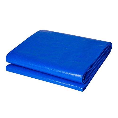 QX Pengbu Iaizi waterdichte stof vrachtwagenzeil driewieler ultralicht waterdicht linoleumstof kunststof bekleed blauw dekzeil zonwering 5x 10m Blauw