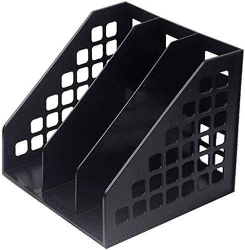 File Holder Eenvoudige Data Frame Multi-Functie Creatieve Boekenplank Kolommen Ontwerp Dikke Materiaal Minimale Ruimte Verbazingwekkende Gift Opbergdoos Zwart