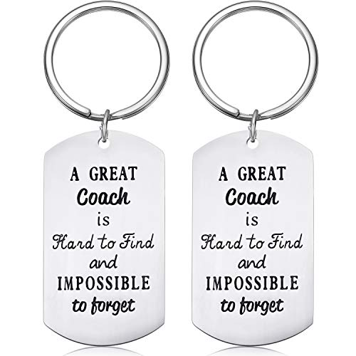 2 Pieces Keychains Sport Gifts with 2 Gift Boxes for