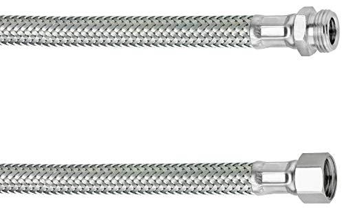 Cornat Flexibler Verbindungsschlauch - 200 mm Länge - 3/8 Zoll IG, 3/8 Zoll AG - Hochwertige Edelstahl-Umflechtung / Anschlussschlauch für Wasserhahn / Armaturenschlauch / Flexschlauch / T3173091270