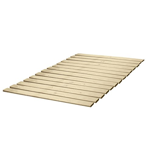 Classic Brands Attached Solid Wood Bunkie Board Bed Support Slats - Twin