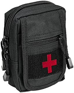 M1SURPLUS IFAK Individual First Aid Trauma Kit w/Black Color MOLLE Compatible Utility Pouch Hunters Range Safety Equipment